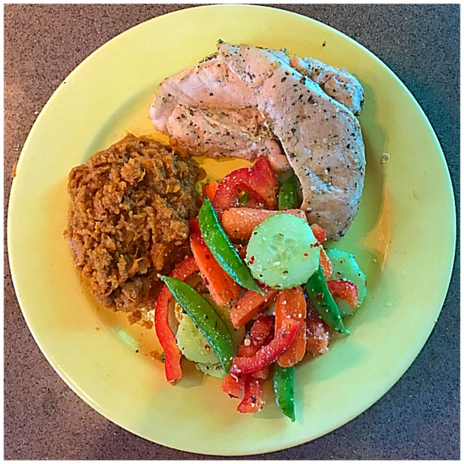 What's for Dinner? Garlic, Herb, and Wine Chicken with Honey Cinnamon  Mashed Sweet Potatoes